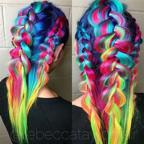 1318 best images about hairstyles on pinterest neon hair best 20 rainbow hair ideas on pinterest dyed hair