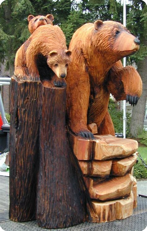 images  tree carvings  pinterest