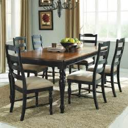 Homelegance mckean 7 piece 66x42 dining room set in black