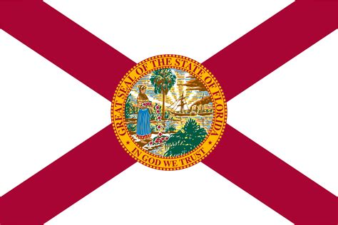 florida colors flag of florida