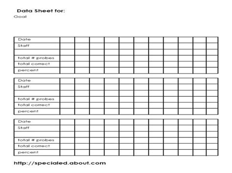 data template iep goals data collection sheet template special education