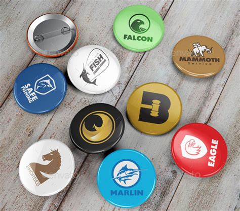 20 cool badge button mockup psds desiznworld