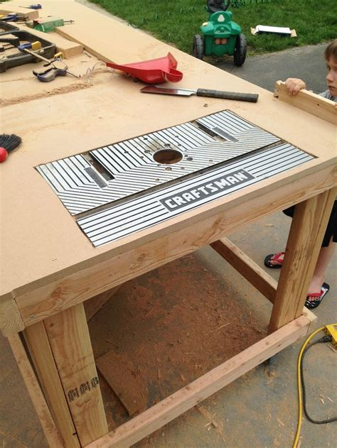 Build Your Own Router Table by Building Your Own Wooden Workbench Happy Router Table