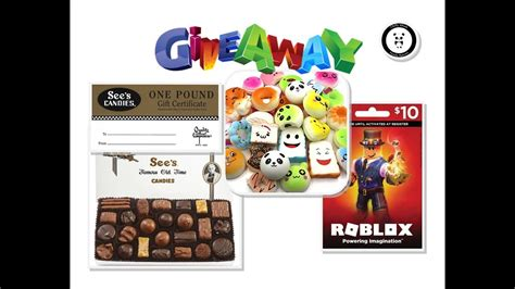Free Squishies Giveaway - free awesome giveaway sees candies squishies roblox gift card youtube