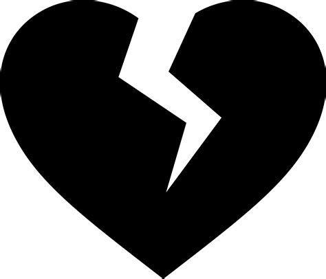 Attractive A Christmas Heart #4: Clipart-broken-heart-icon.png