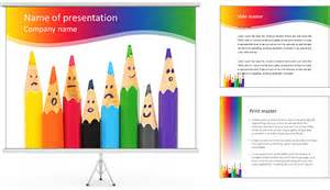 pencil templates pencil faces powerpoint template backgrounds id