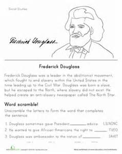 historical heroes frederick douglass worksheet