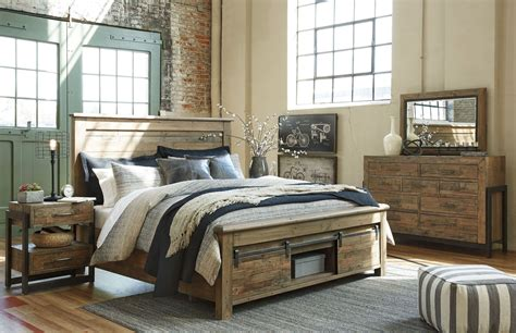 sommerford brown storage panel bedroom set  ashley coleman furniture