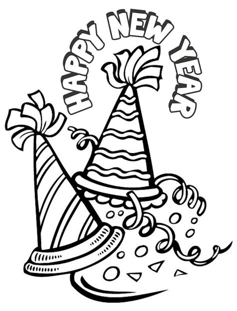 New Years Coloring Page New Years Coloring Pages