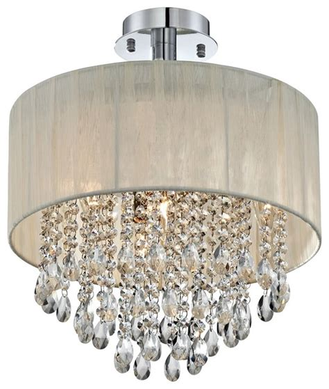 Ceiling Light Shade With Crystals by Possini Antique Ivory Shade Ceiling Light Flush Mount
