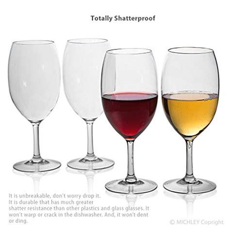 unbreakable barware michley unbreakable wine glasses 100 tritan shatterproof wine glasses bpa free