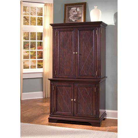 computer armoire cherry office furniture computer armoires hayneedle com