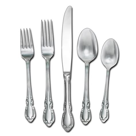 flatware sets vienna 20 piece flatware set service for 4 pfaltzgraff