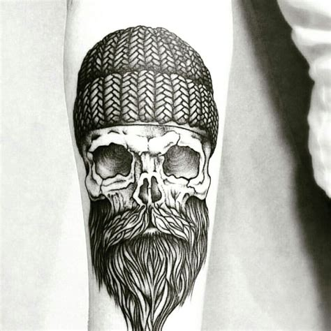 bearded skull tattoo beard skull board