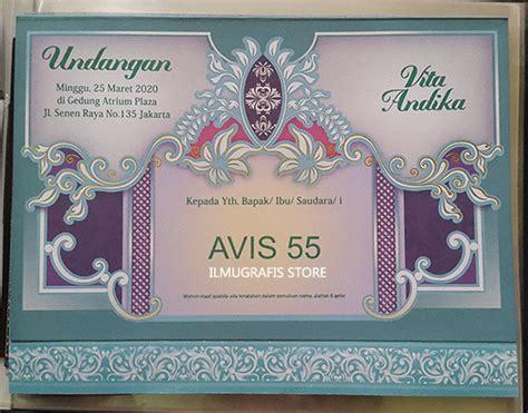 Blangko Undangan Fadhil 65 katalog undangan avis album 2