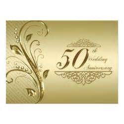 50th wedding anniversary invitation card 6 5 quot x 8 75 quot invitation card zazzle