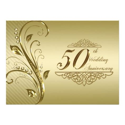50th Wedding Invitation Cards by 50th Wedding Anniversary Invitation Card 6 5 Quot X 8 75