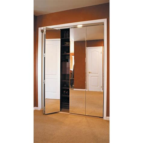Sliding Closet Door Hardware Home Depot Series Pocket Bifold Mirrored Closet Doors Home Depot