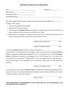 roommate release agreement in word and pdf formats