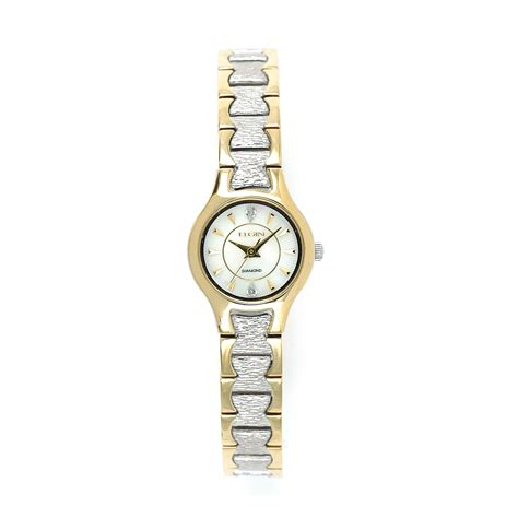 elgin two tone jewelry watches