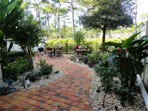 florida landscape design ideas courtyard features construction landscape