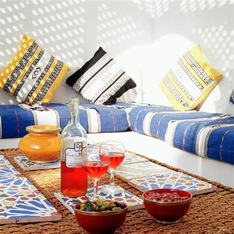 Low Seating moroccan style outdoor seating home ideas 2016