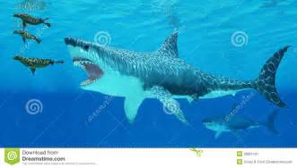 megalodon attacks a seal stock illustration image 38931101