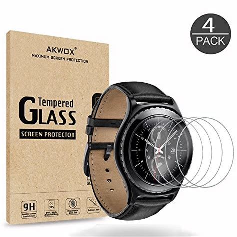 Tempered Glass Gear Sport New 4 pack gear s2 tempered glass screen protector akwox 0 3mm import it all