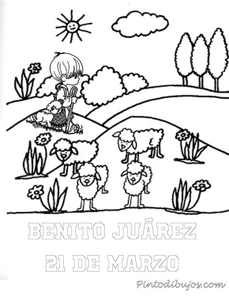 imagenes para colorear benito juarez pinto dibujos benito juarez pastor 21 de marzo para colorear