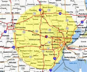 Southeast Michigan Map by Similiar Map Of Southeast Michigan Keywords