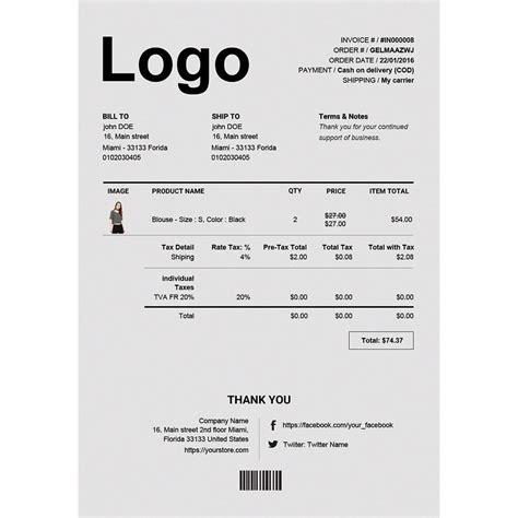 erweiterte rechnung amp lieferung pdf template builder