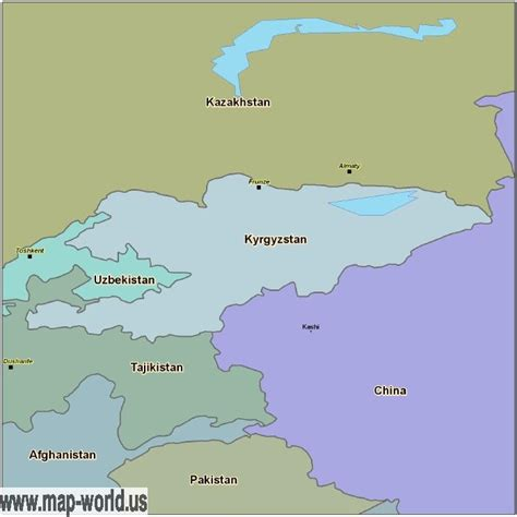 kyrgyzstan in world map map of kyrgyzstan kyrgyzstan map world map