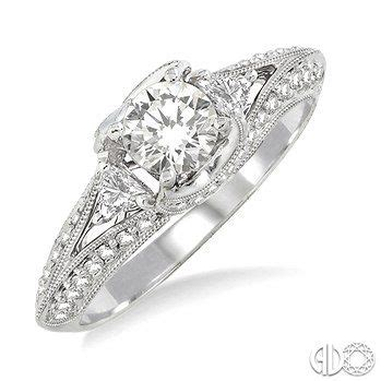 Karli Harvey Also Search For 1 Ctw Engagement Ring With 1 2 Ct Cut Center In 14k White Gold