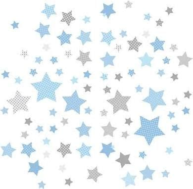 kinderzimmer deko blau kinderzimmer wandsticker sterne blau grau 68 teilig