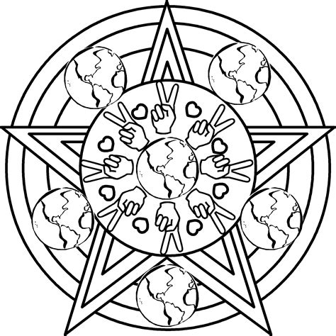 Peace Coloring Pages 7 Coloring Kids Peace Coloring Pages