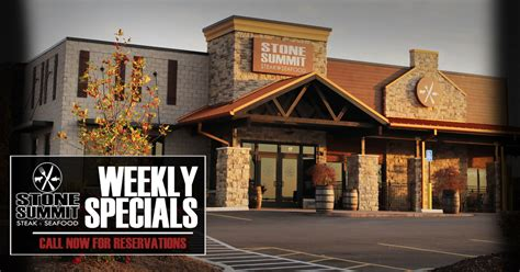 weekly specials  stone summit steak  seafood stone