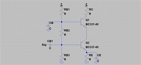 transistor lifier bias calculator transistors choosing the bias components of a cascode lifier electrical engineering stack