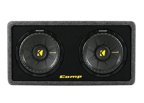 Box Subwoofer 10 Inch kicker dcws10 dual 10 inch 2 ohms loaded subwoofer mdf audio enclosure box new ebay