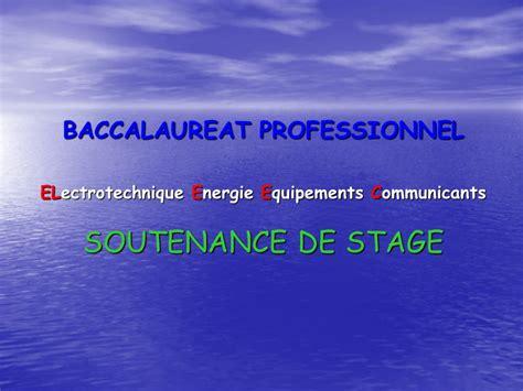 Modele Rapport De Stage Electrotechnique