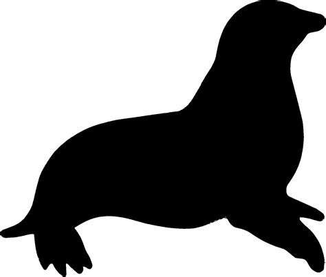 clip and seal seal black and white clipart clipart suggest
