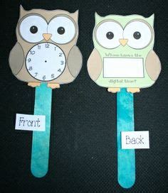 printable clock paddles crafts activities and clock on pinterest