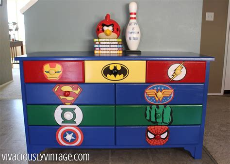 superhero home decor superhero dresser commission home decorating diy