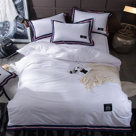 Look Bedding by 2017 New Minimalist Style White Bedding Sets Cotton Bed