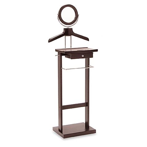 bathroom valet stand buy valet stand with mirror and drawer from bed bath beyond
