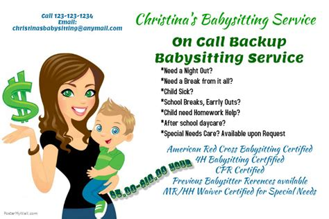 babysitting poster template babysitting service template postermywall