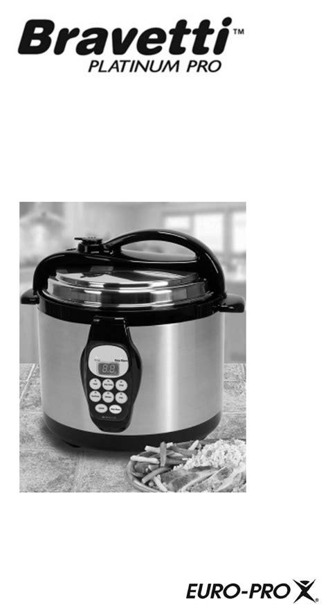 bravetti electric pressure cooker pc107ha user guide