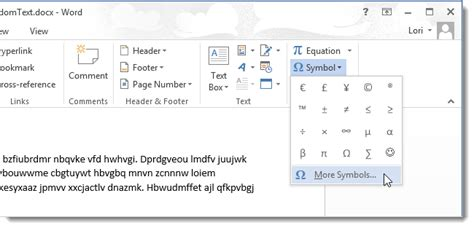 section symbol word how to use symbols in word 2013