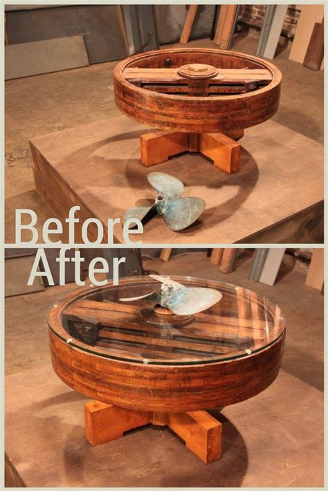 boat propeller upcycle before and after images from hgtv s flea market flip