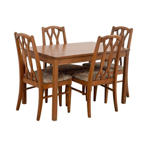 Kitchen Table Sets With Upholstered Chairs 83 Wood Kitchen Table And Floral Upholstered Chairs