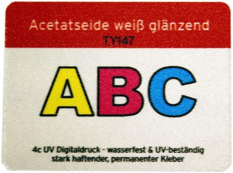Aufkleber In Wunschformat by Acetatseide Textilaufkleber Im Wunschformat Drucken